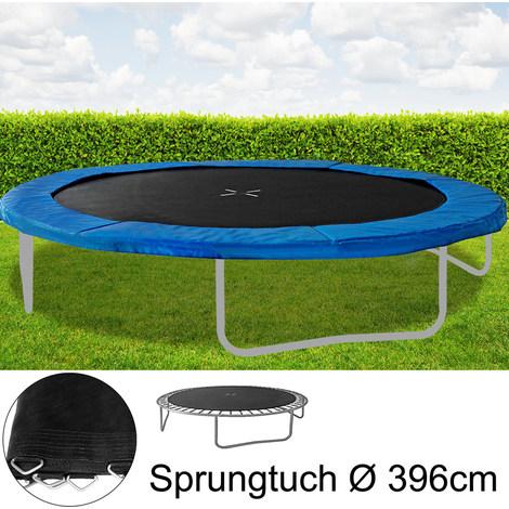 Trampolin Sprungtuch Sprungmatte Zubehör 430 cm Ø,88 Ösen,Federn 17,8 cm
