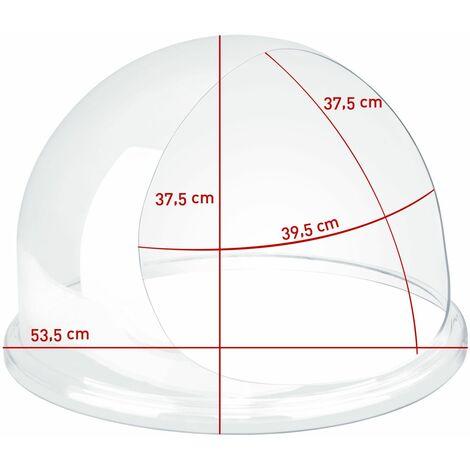 Zuckerwattemaschine Spuckschutz 62cm Hygieneschutzhaube Abdeckhaube Acrylglas