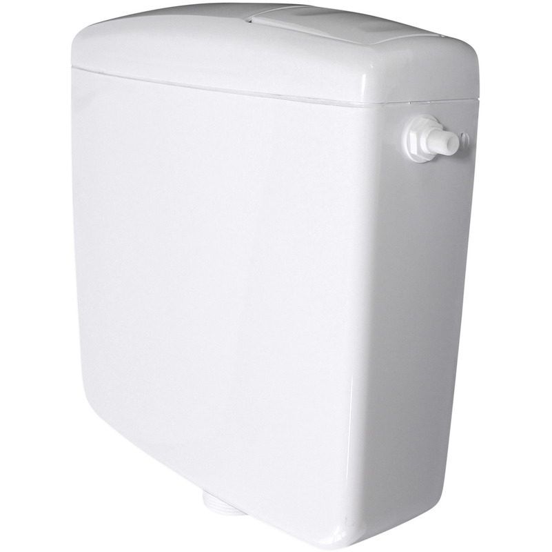 Super Spülkasten für WC Toiletten Weiß 6 - 9 Liter Spartaste Aufputz PE93