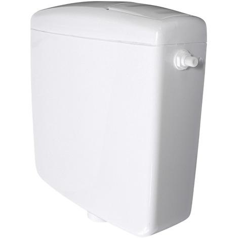 Spülkasten für WC Toiletten Weiß 6 - 9 Liter Spartaste Aufputz Aufputzspülkasten