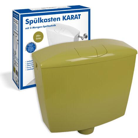 Spülkasten Karat | Kunststoff | 2 Mengen Spültechnik | 3,5 Liter oder 6 - 9 Liter | Tiefspülkasten | Oliv / moosgrün