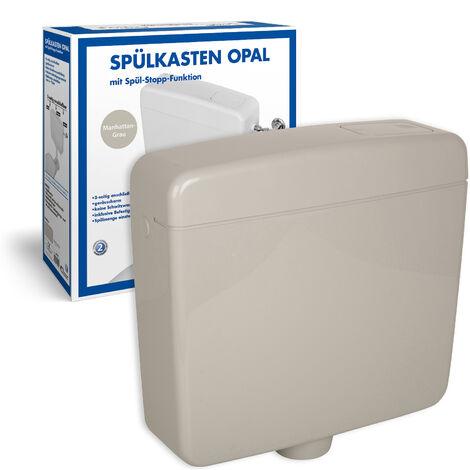 Spülkasten Opal   Kunststoff Spül-Stopp-Funktion 6-9 Liter Tiefspülkasten WC, Toilette Manhattan