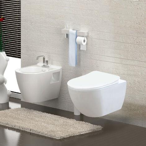 Spülrandloses Wand Hänge WC Spülrandlos Toilette Bidet Taharet Rimless