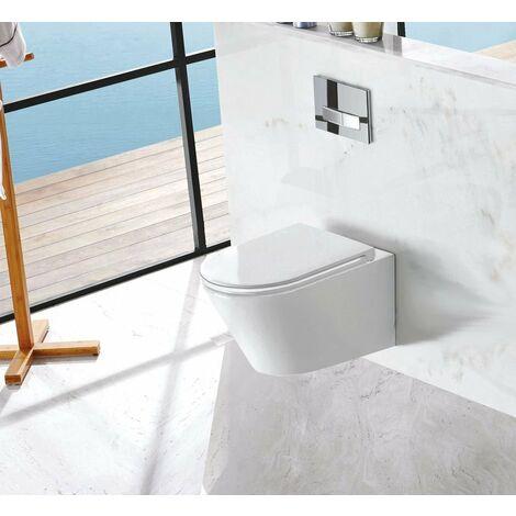 Spülrandloses Wand-WC inkl. Soft-Close Sitz WHR-6011