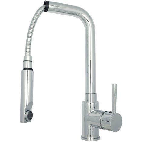 Spültischarmatur Küchenarmatur ausziehbar Wasserhahn Hochdruck Chrom