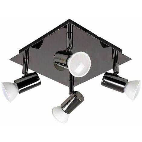 Square 4 Way GU10 Ceiling Spotlight