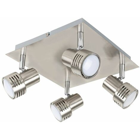 Square 4 Way GU10 Ceiling Spotlight