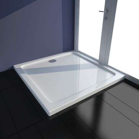Square ABS Shower Base Tray White 80 x 80 cm