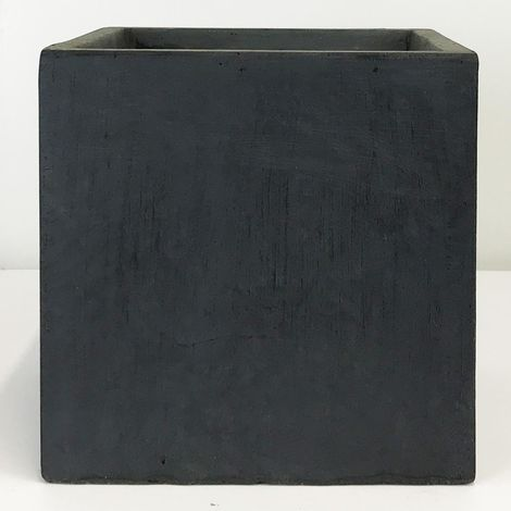 Square Box Contemporary Faux Lead Light Concrete Planter H60 L60 W60 cm