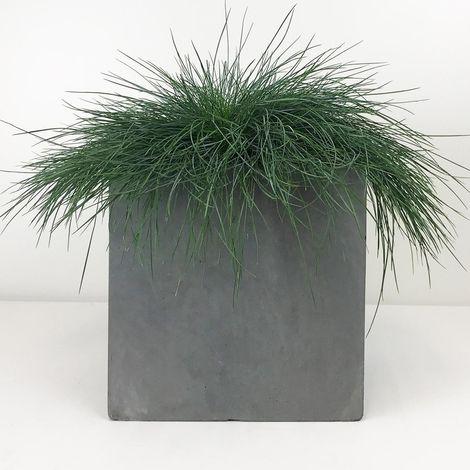 Square Box Contemporary Grey Light Concrete Planter H75 L75 W75 cm