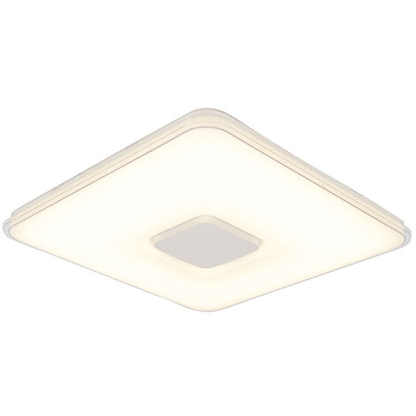 Square ceiling lamp incl. LED dim to warm remote control - Seoul