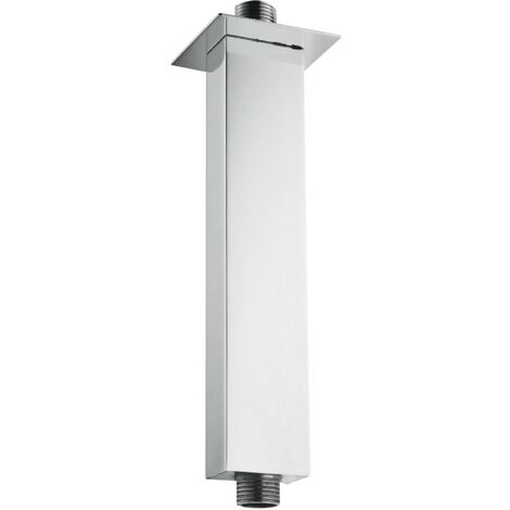 Square Chrome Ceiling Mounted Shower Arm 120mm