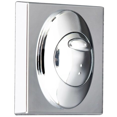 """main image of """"Square Chrome Push Button Plate"""""""
