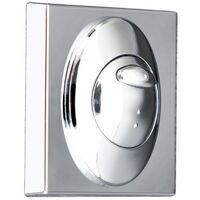 Square Chrome Push Button Plate