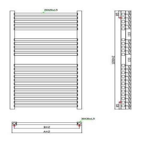 Square Chrome Towel Rail (Various Sizes Available)
