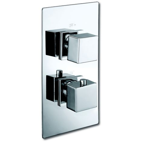 Square Concealed Twin Thermostatic Shower Valve by Voda Design
