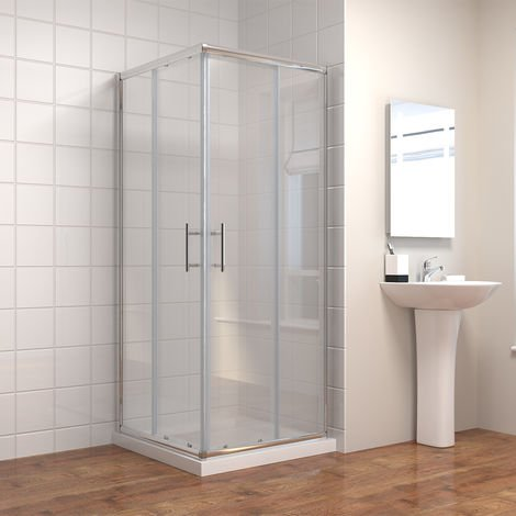 Square Corner Entry 1000 x 1000 mm Shower Enclosure Sliding Shower Cubicle Door