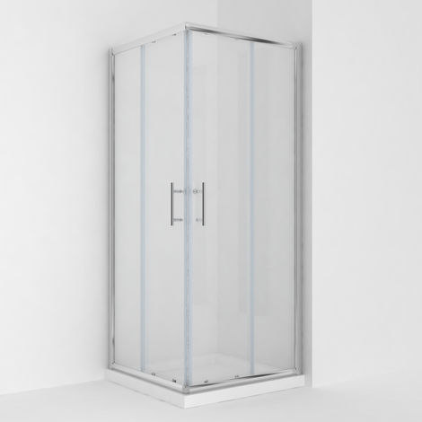 Square Corner Entry Shower Enclosure 1000 x 1000 mm Sliding Shower Cubicle Door