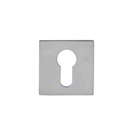 Square cylinder rose Aluminium - Ambiance - Pearl chrome finish