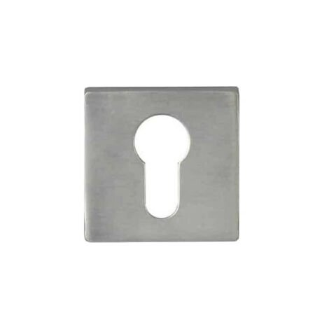 Square cylinder roses Aluminium - Soho - Nickel plated finish