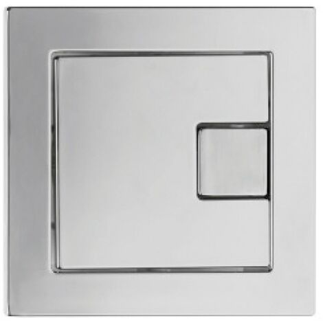 Square Dual Flush Button - Chrome