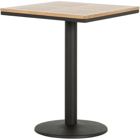 Square Garden Bistro Table 60 x 60 cm Light Wood PALMI