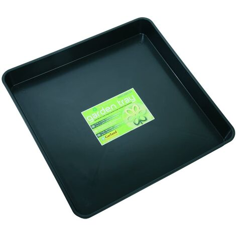 Square Garland Garden Tray - Ideal for Planting / Greenhouses - Black