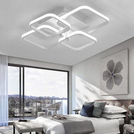 Square LED Ceiling Light Chandelier Lamp Cool White Light, 6 Head