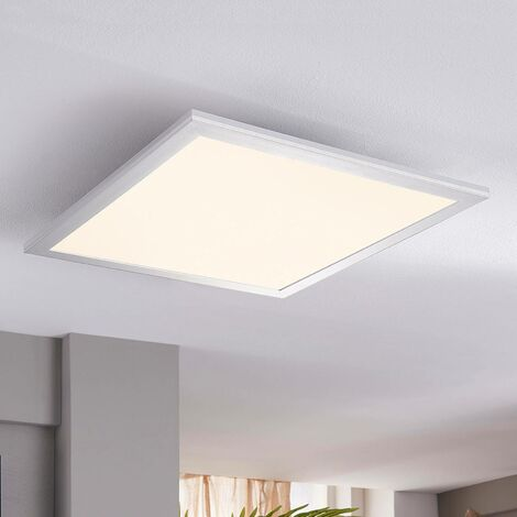 Square LED ceiling light Liv, 28 W