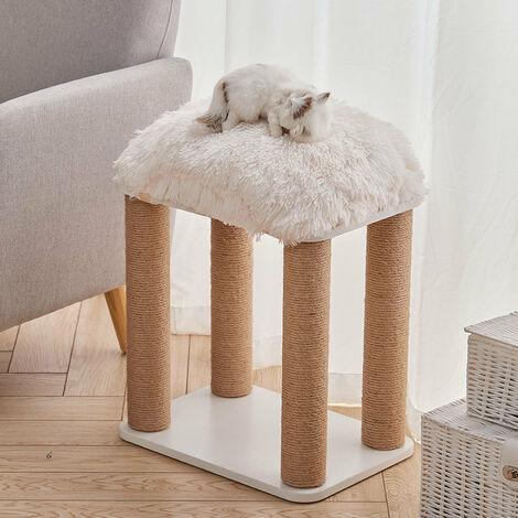 "main image of ""Pet Cat Climbing Tree Kitten Scratching Post Play Furniture With Plush Cushion"""