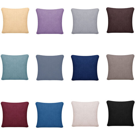 """main image of """"Square Pillow Case Throw Cushion Covers Waterproof Plaid Solid Pilowcases 15.7*15.7inch For Sofa Bedroom Office Car"""""""
