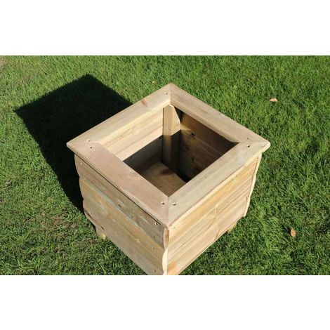 """main image of """"Square Planters, wooden garden pot/tub for plants – FULLY ASSEMBLED"""""""