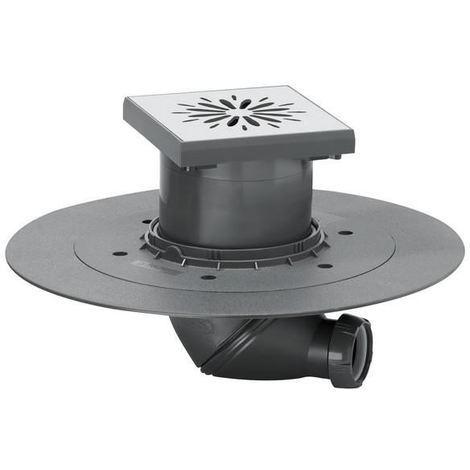 Square point floor wetroom underground shower drain stainless steel 150mmx150mm