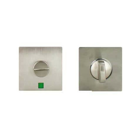 square rosettes in stainless steel with locking button with indicator Klose Besser x2