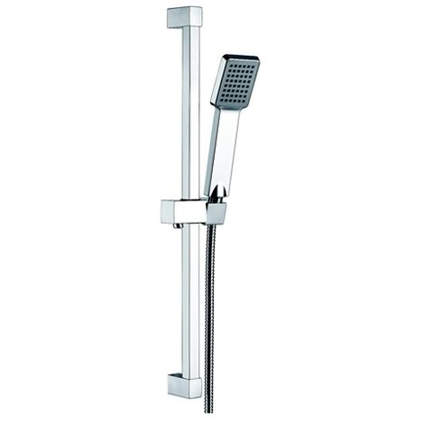 """main image of """"Square Slide Shower Rail Kit With Elbow"""""""