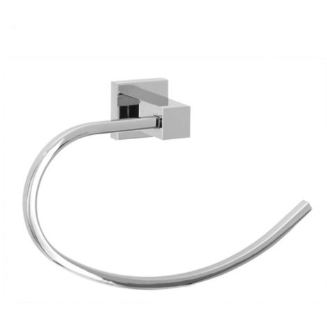 Square Solid Metal Towel Ring