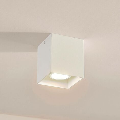 Square surface-mounted downlight Carson in white