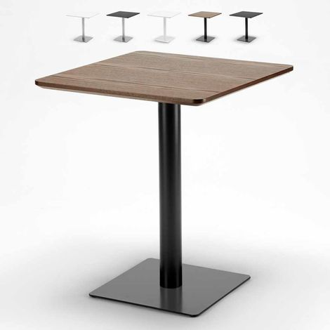 Square Table 60x60 with Central Support Coffee Bar Pub Bistros HORECA