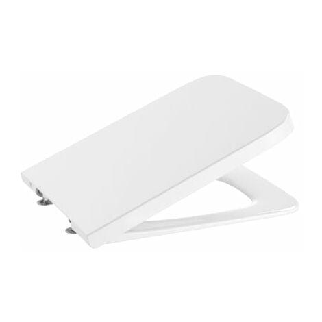 SQUARE - Tapa y aro de SUPRALIT® para inodoro con caída amortiguada - Serie Inspira , Color Blanco - Roca A80153200B