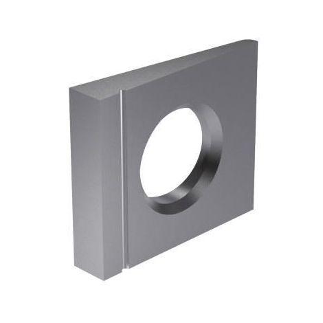 Square taper washer 14% for I-sections DIN 435 Steel Plain 100 HV