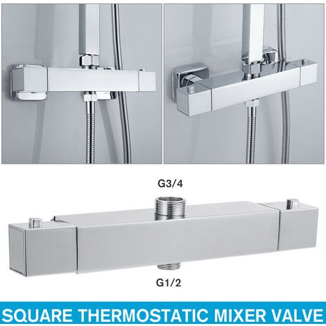 Square Thermostatic Mixer For Chrome Mixer
