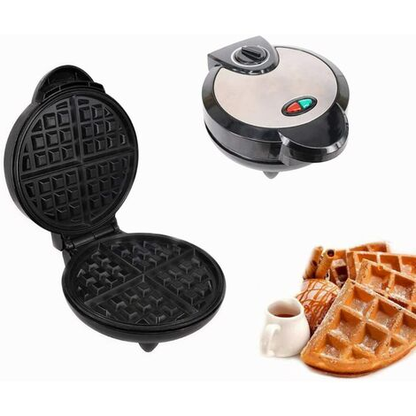 Square waffle maker for custom waffles, paninis, hash browns, other breakfasts to go, lunches or snacks