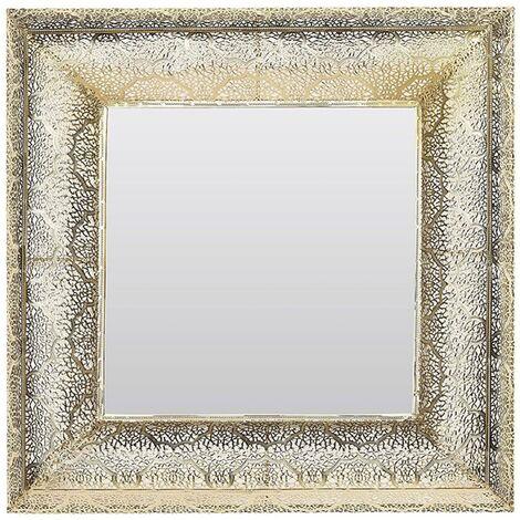 Square Wall Mirror Retro Glam Ornate Gold Living Room Hallway Decor Plerin