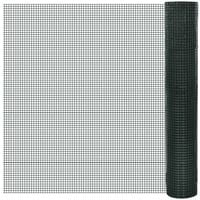 Square Wire Netting 1x25 m PVC-coated Galvanized Mesh Size 16x16 mm