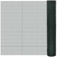 Square Wire Netting 1x25 m PVC-coated Galvanized Mesh Size 19x19 mm