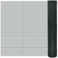 Square Wire Netting 1x25 m PVC-coated Galvanized Mesh Size 25x25 mm