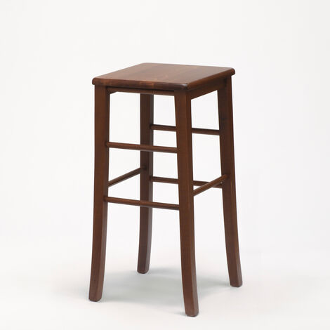 Square Wooden Stool For Café And Kitchen DORTMUND