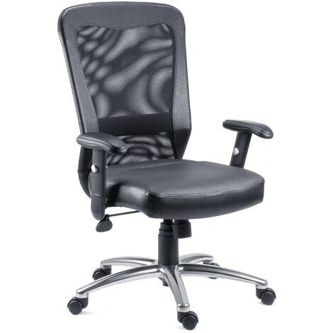 Squear Office Chair Executive Mesh Chair Leather