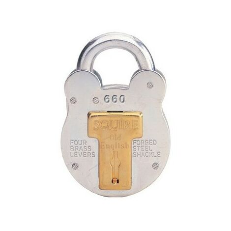 Squire 660/KA PES8 Old English Padlock with Steel Case 64mm Keyed