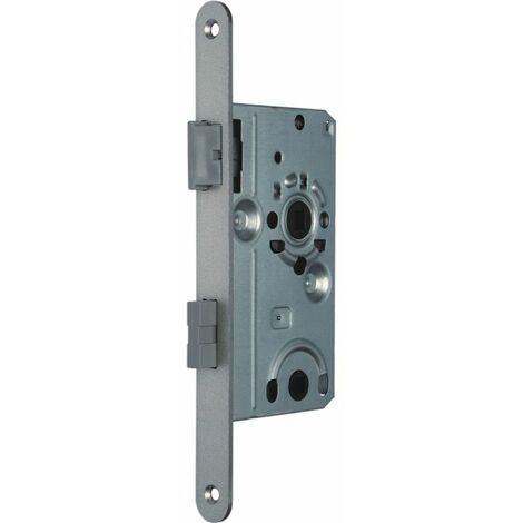 SSF Zimmertür-Einsteckschloss WC 20/55/78/8 mm DIN L Stulp silber rund Kl 2